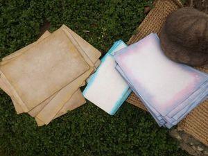 Сделать бумагу ручной отливки было бы проще и легче, чем её иммитацию.. Ярмарка Мастеров - ручная работа, handmade.