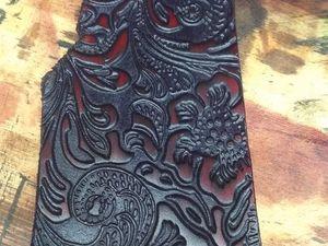 Как мы красили тисненую кожу. Ярмарка Мастеров - ручная работа, handmade.