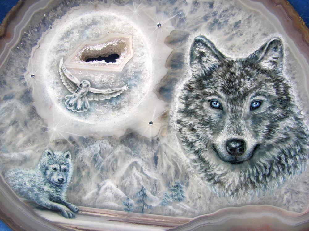 живопись маслом на камне, купить роспись на камне