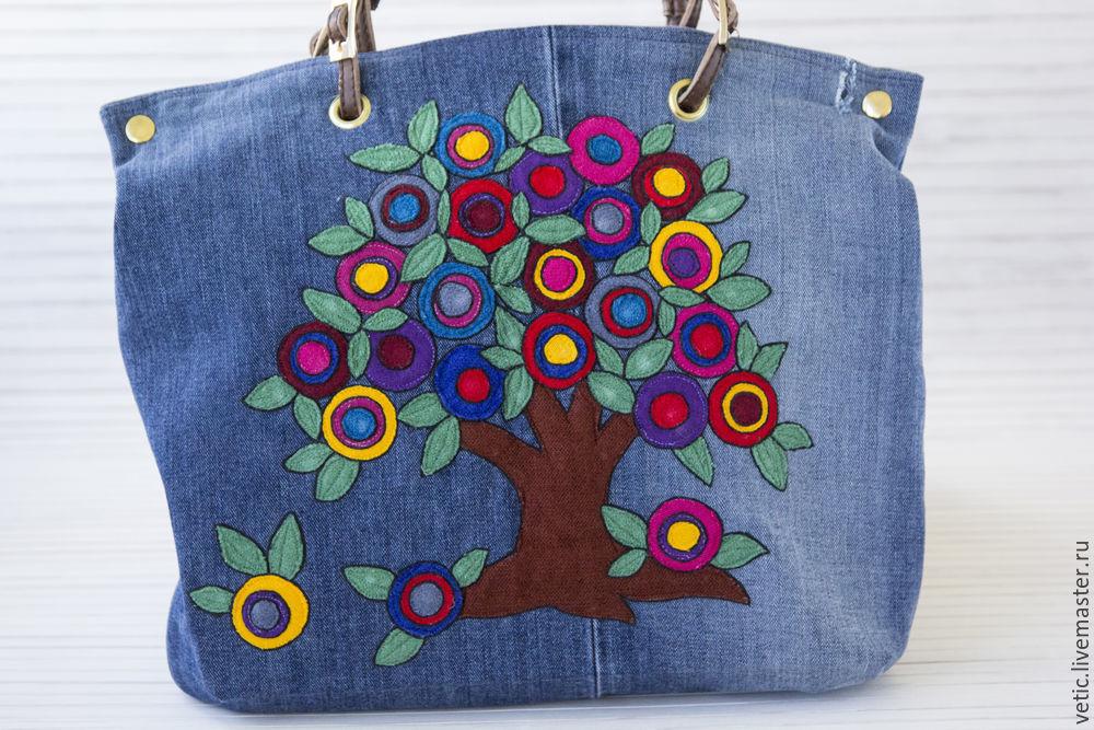 Декор джинсовой сумки