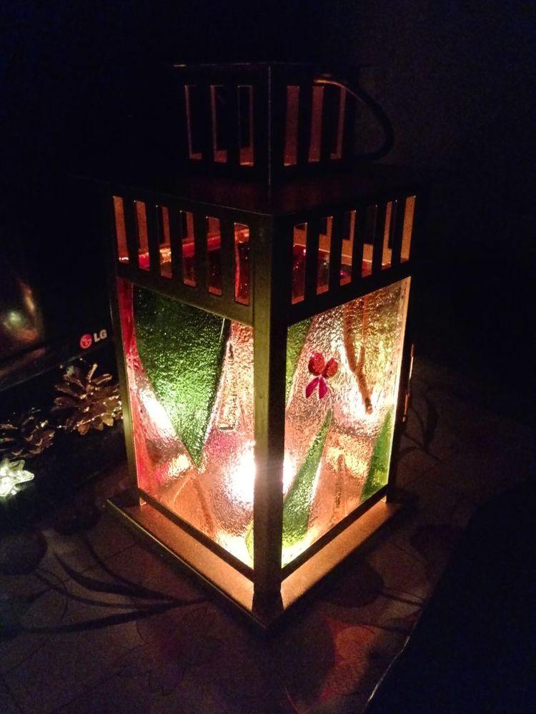 стекло ручной работы, фонарь из стекла