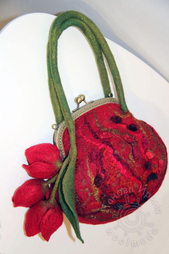 валяная сумка, сумочка