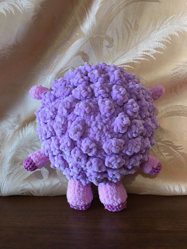 игрушки, фиолетовый, вязание