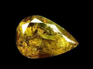 Желто-зеленый бриллиант 0,59ct(Видео). Ярмарка Мастеров - ручная работа, handmade.