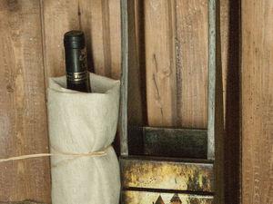 «Осенние замки»: процесс декорирования деревянного короба для бутылки. Ярмарка Мастеров - ручная работа, handmade.