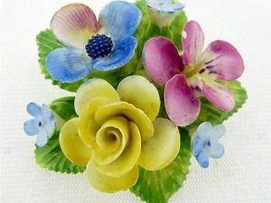 Вечное цветение — очарование английских фарфоровых брошей. Ярмарка Мастеров - ручная работа, handmade.
