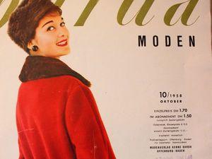 Burda moden 10/1958 Бурда Моден. Ярмарка Мастеров - ручная работа, handmade.