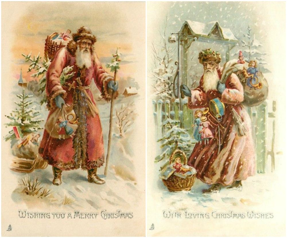 Новогодние открытки из прошлого века, день рождения