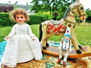 Скоро старинная куколка миньонет Марселя Арман, лошадка-качалка и миниатюрный Полишинель!. Ярмарка Мастеров - ручная работа, handmade.