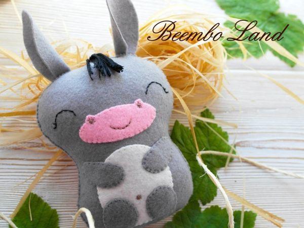 Шьем детскую игрушку — озорного Ослика из фетра | Ярмарка Мастеров - ручная работа, handmade