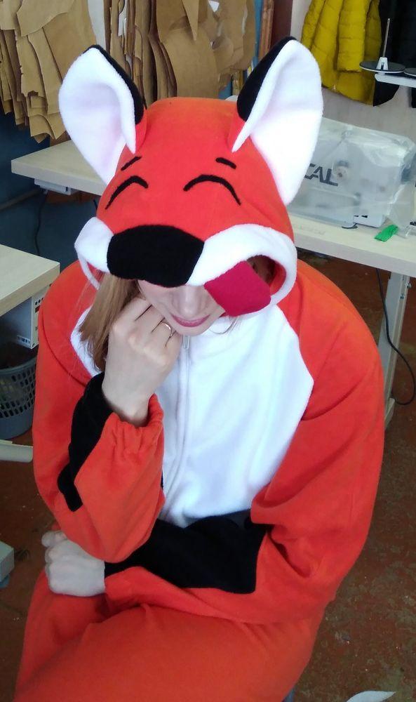 кигуруми лис, лис, комбинезон лис, костюм лис, оранжевый
