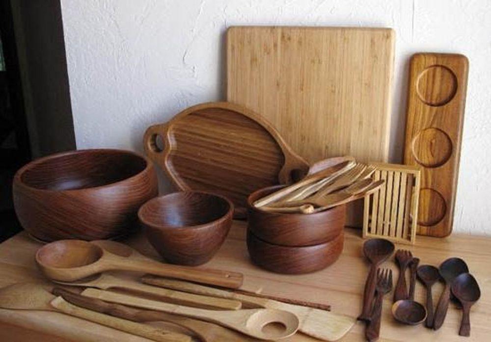 Как сделать посуду из дерева