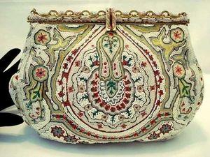 Винтажная сумочка из Франции с вышивкой от Josef 1930-1940 гг. Ярмарка Мастеров - ручная работа, handmade.