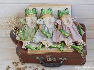 О новых лягушечках и процессах. Ярмарка Мастеров - ручная работа, handmade.