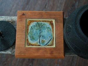 Новые подставки под горячее: дерево и керамика. Ярмарка Мастеров - ручная работа, handmade.