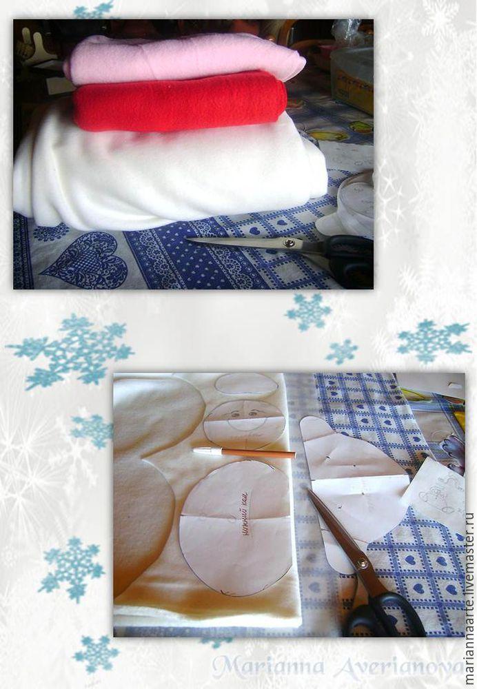 Мастер-класс по созданию забавной новогодней игрушки «Снеговичок-тюфячок», фото № 4