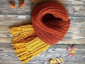 Осень - не повод грустить! Осень - повод носить шарфик!. Ярмарка Мастеров - ручная работа, handmade.