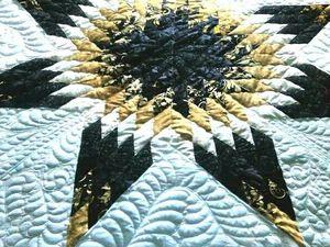 """Лоскутное одеяло """"Звезда"""", аукцион!. Ярмарка Мастеров - ручная работа, handmade."""