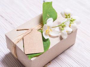 Подарочная упаковка с живыми цветами. Ярмарка Мастеров - ручная работа, handmade.