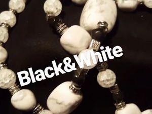 Колье  «Black&amp&#x3B;White» ! Представление!. Ярмарка Мастеров - ручная работа, handmade.