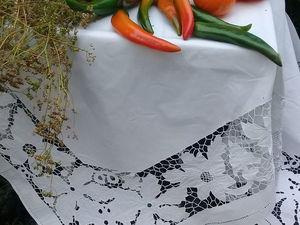 Готовая работа. Вышивка ришелье Старинный накомоднин. Ярмарка Мастеров - ручная работа, handmade.