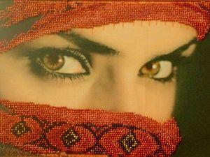 """Картина """"Восточные глаза"""". Ярмарка Мастеров - ручная работа, handmade."""