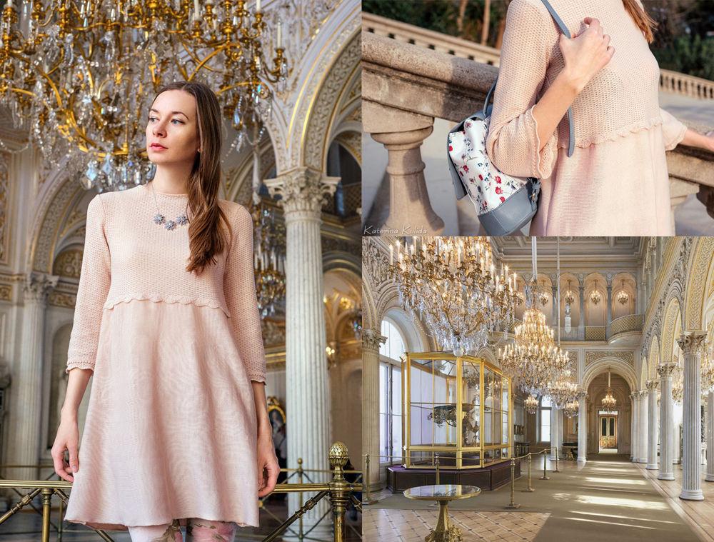 платье на выход, кремовое платье, 60е, кремовый, романтика
