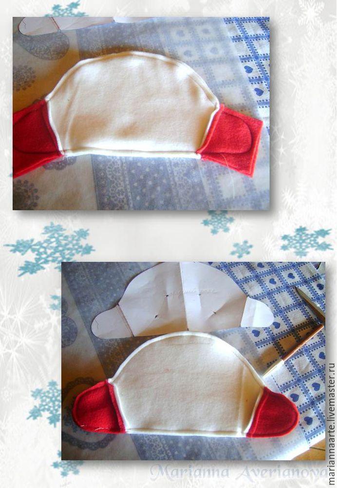 Мастер-класс по созданию забавной новогодней игрушки «Снеговичок-тюфячок», фото № 7