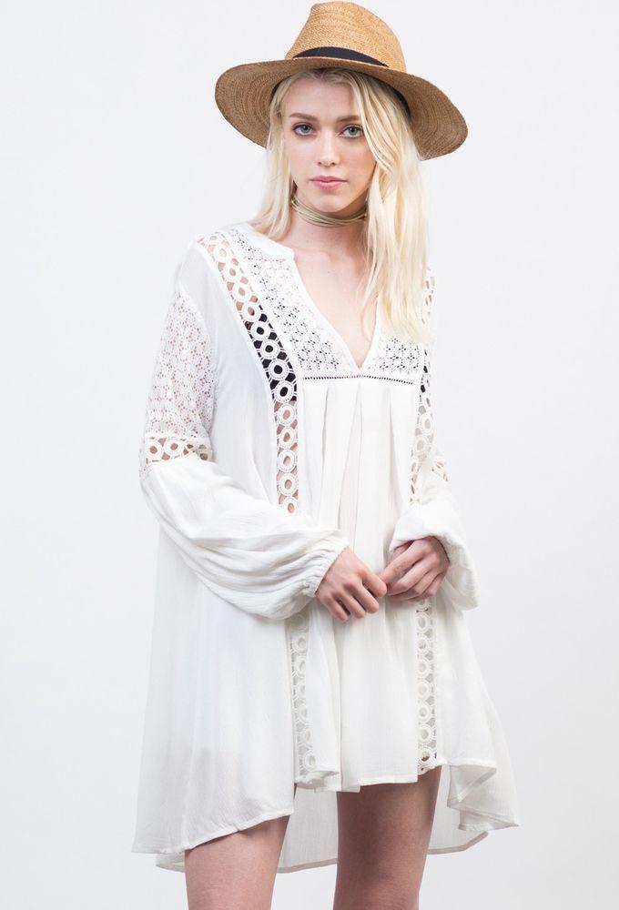 Белое бохо, или Шикарная одежда для королевы летнего пляжа, фото № 57