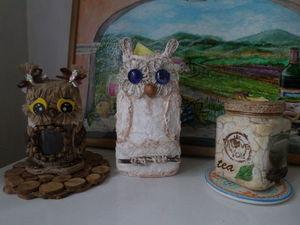 Создаем салфетницу «Совушки» из бутылки. Ярмарка Мастеров - ручная работа, handmade.