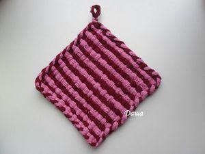 Творим с детьми: плетение прихватки на рамке. Ярмарка Мастеров - ручная работа, handmade.