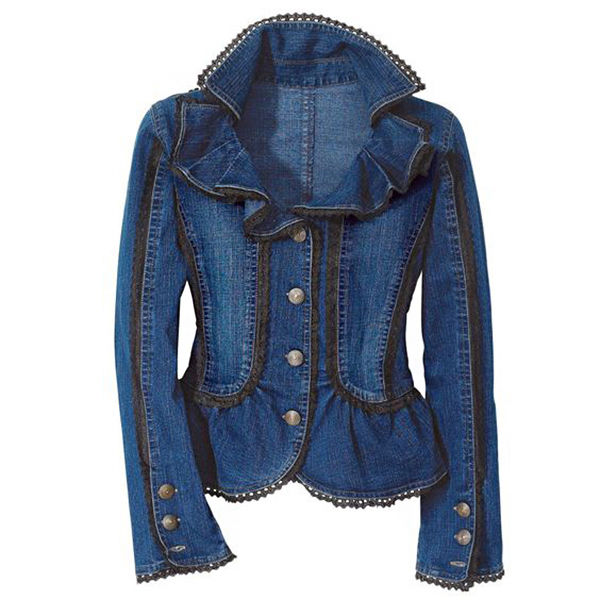 Многообразный декор джинсовых курток: 50 интересных вариантов, фото № 42