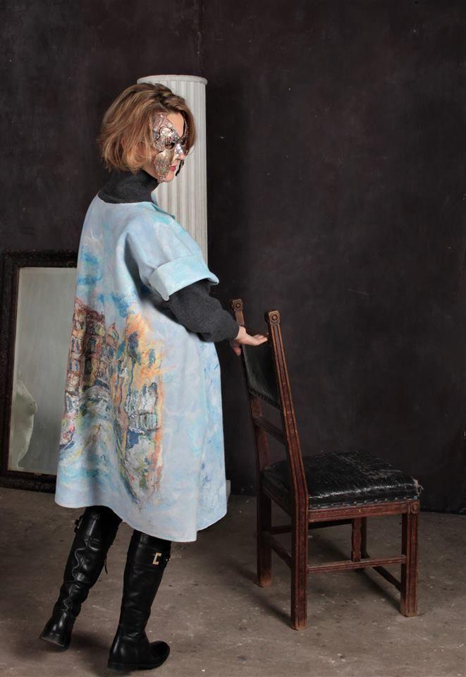 стиль, венецианская маска, голубой