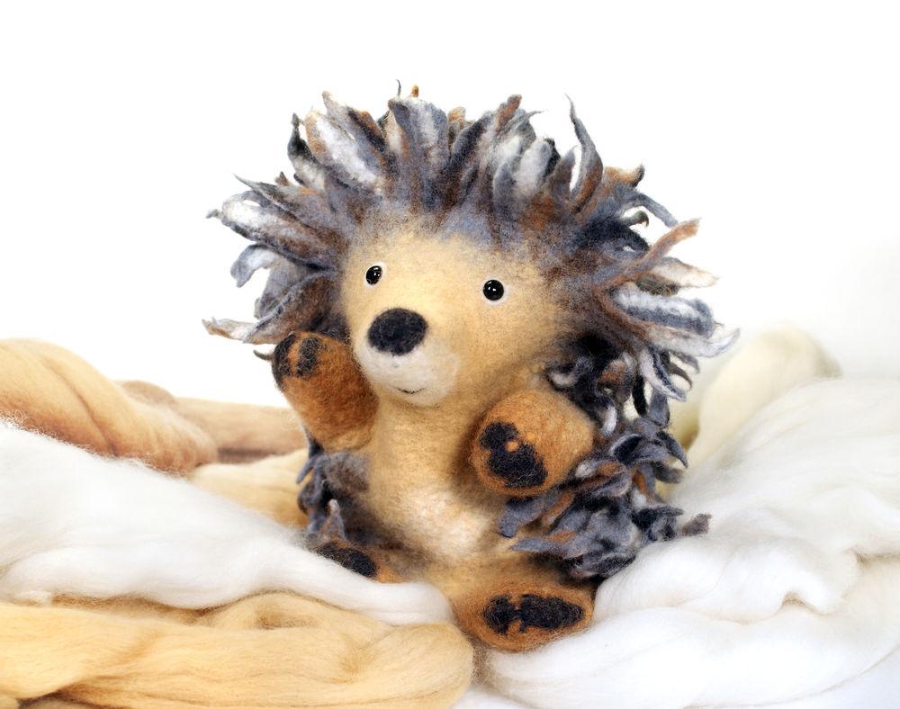 Мастер-класс по мокрому валянию «Ёжик — перчаточная кукла, мягкая игрушка», фото № 1