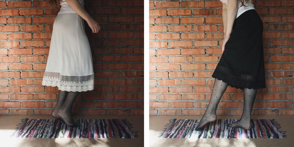 юбка, трикотаж, осень, зима 2017, черный