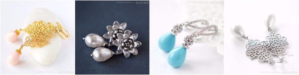 серьги, с кристаллами сваровски