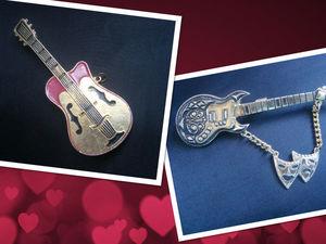 Для музыкантов и меломанов: винтажные броши - гитары. | Ярмарка Мастеров - ручная работа, handmade