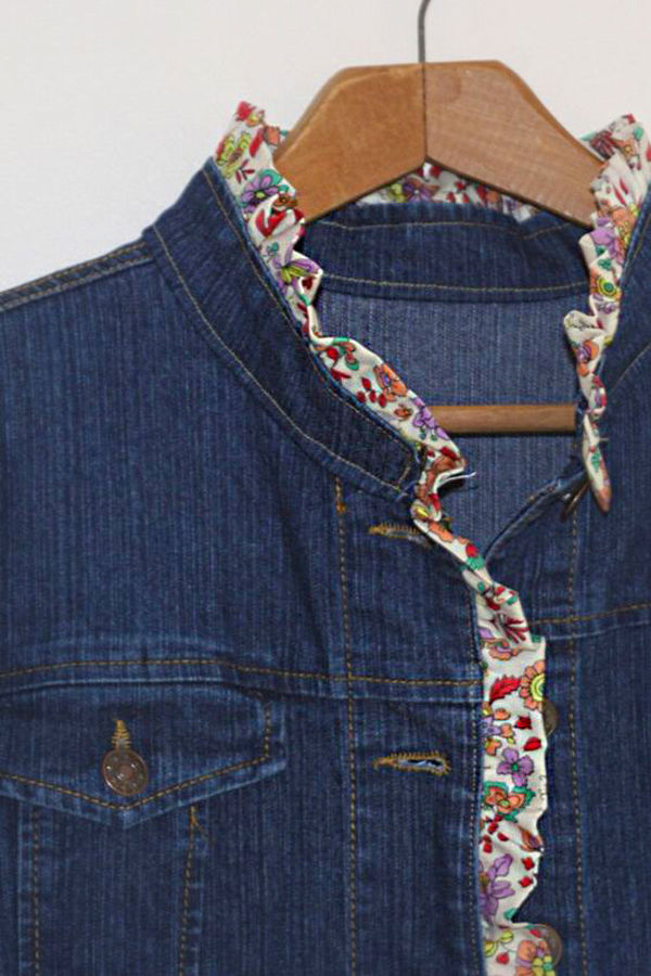 Многообразный декор джинсовых курток: 50 интересных вариантов, фото № 40