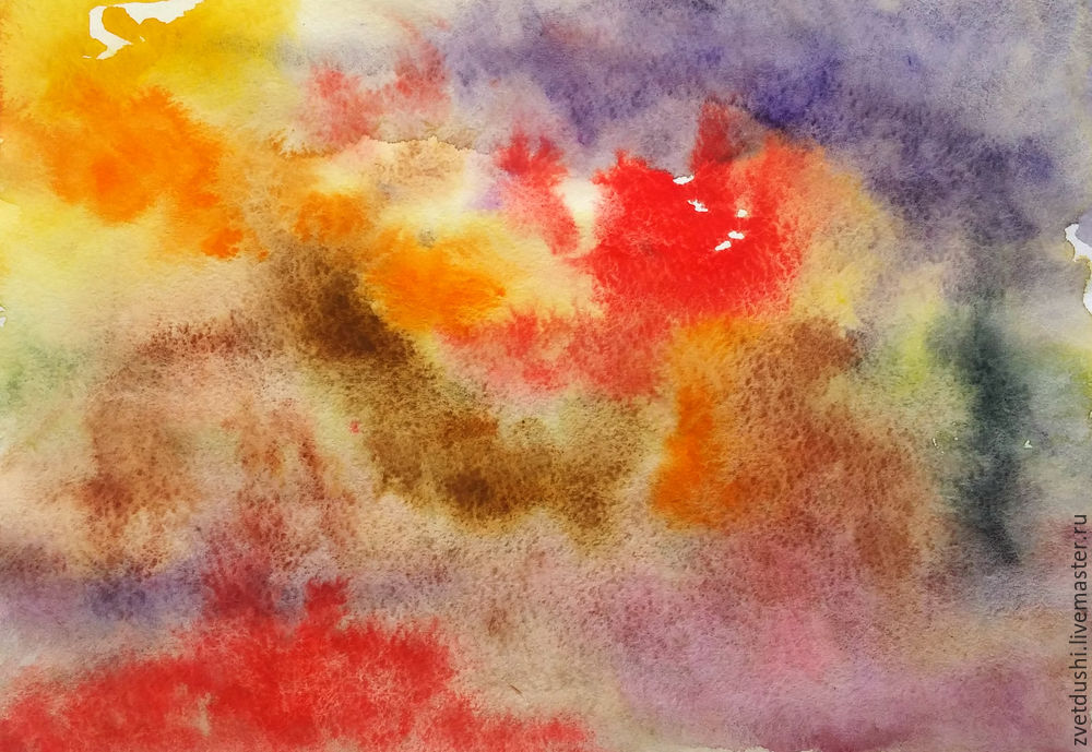 Интуитивная акварельная  живопись и ее «последствия»: совиная история, фото № 3