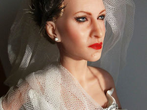 Портретная кукла. Сара Джессика Паракер.. Ярмарка Мастеров - ручная работа, handmade.