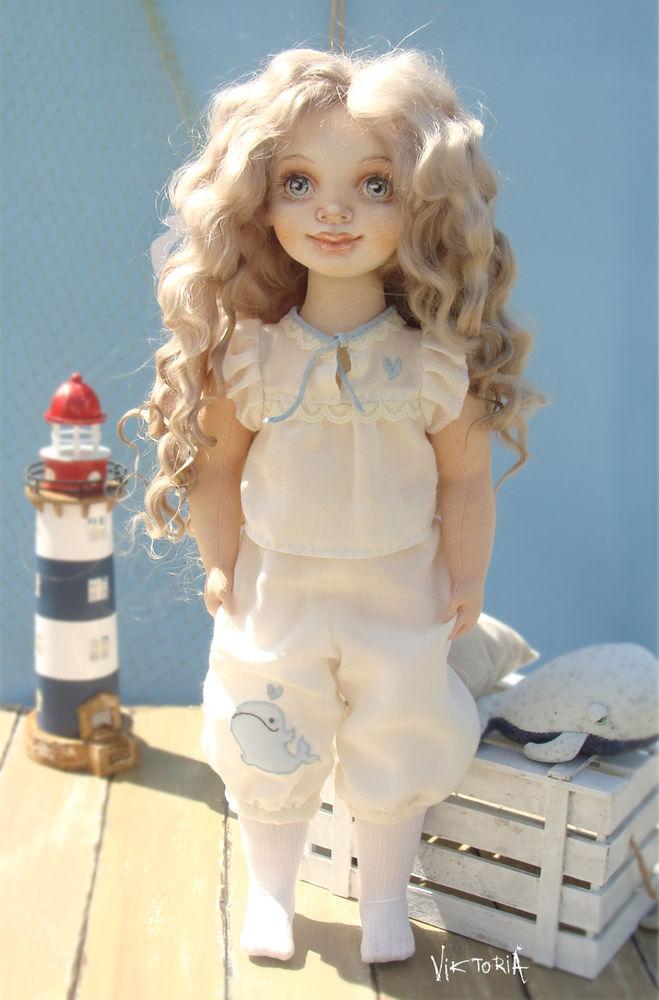 коллекционная кукла, вышивка