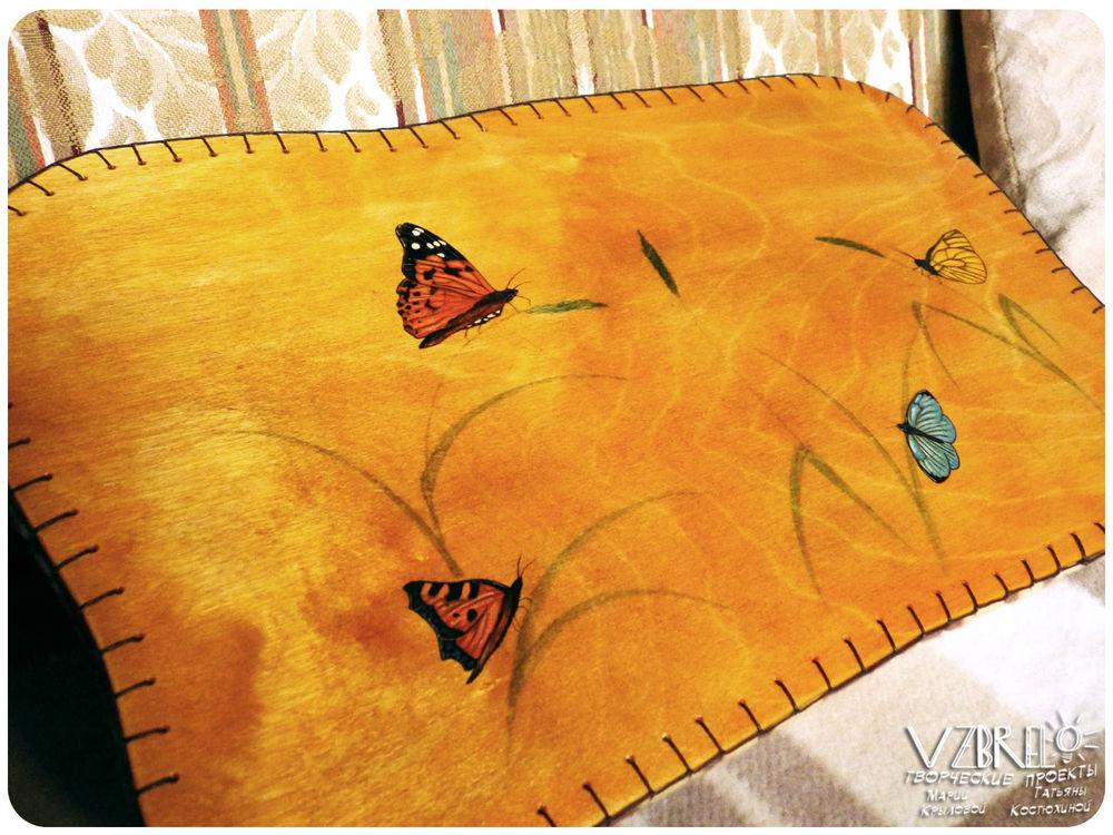столик-поднос, столик на колени, столик для завтрака, роспись по дереву