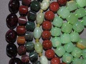 Анонс — бусины из натуральных камней!. Ярмарка Мастеров - ручная работа, handmade.