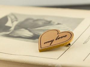 Брошки значки ко Дню Святого Валентина. Ярмарка Мастеров - ручная работа, handmade.