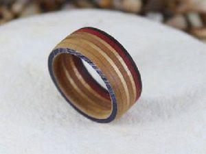 Кольцо из доски для скейтборда. Ярмарка Мастеров - ручная работа, handmade.