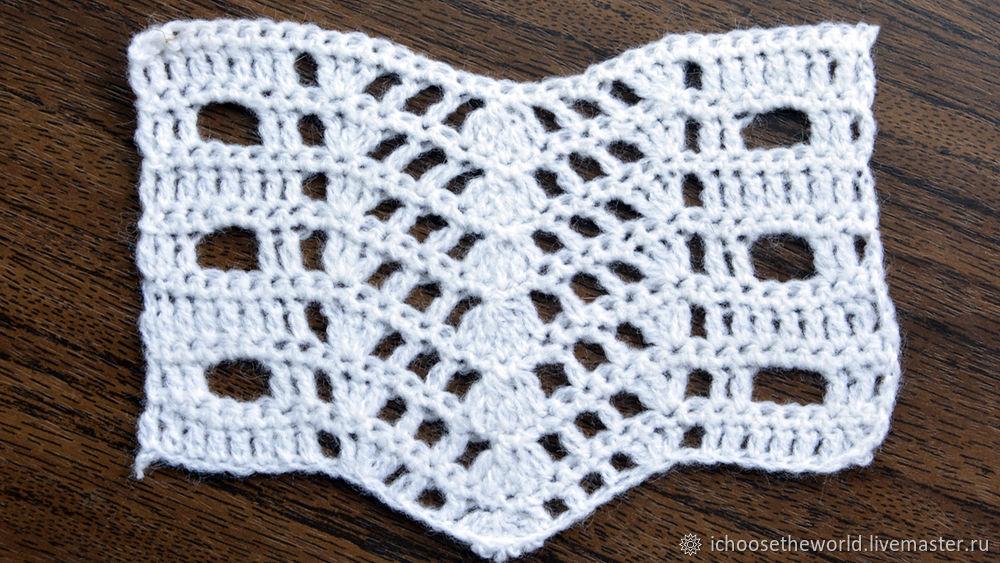 ажурные узоры, простые узоры крючком, вязание для начинающих, своими руками, вязание, ажурный узор, узор, узор в вязании, handmade