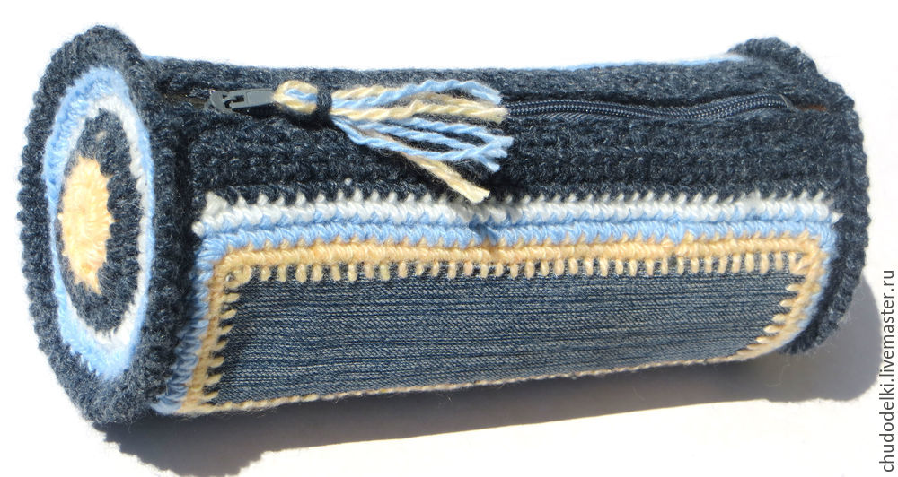 косметичка крючком, сумка крючок схема, переделка джинс, вязание сумочки, схема вязания сумочки, своими руками