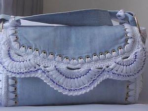 Создаем летнюю сумочку «Джинсовый ажур»: видео мастер-класс. Ярмарка Мастеров - ручная работа, handmade.