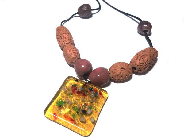 Этнические украшения. Фьюзинг+керамика. Акция! | Ярмарка Мастеров - ручная работа, handmade