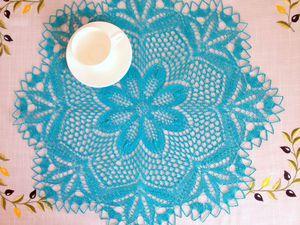 Как придать идеальную форму вязаной салфетке. Ярмарка Мастеров - ручная работа, handmade.